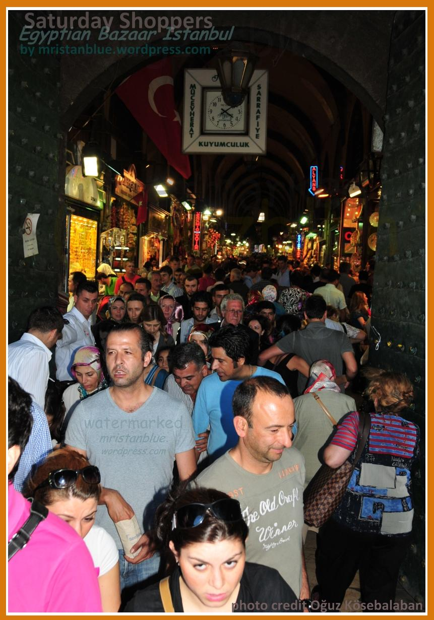 Egyptian Bazaar is same as Spice Market ( closed on sundays like Grand Bazaar )